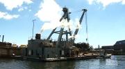 Ancient steam crane still in operation