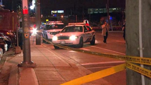 Man dead after shooting in parking lot near Dufferin and Eglinton