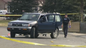 Police are collecting evidence and interviewing witnesses after the shooting in Castleridge.