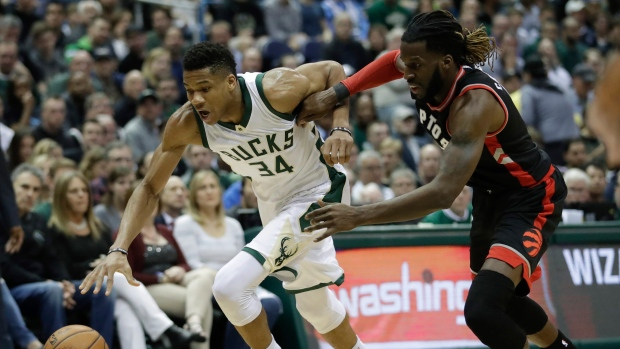 Hungry Raptors rebound in tough battle with Bucks to tie series