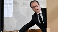 Francois Hollande votes