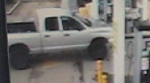 RCMP said a man in this Dodge Ram hit a gas station employee to escape without paying for gas in Sherwood Park Saturday, April 22, 2017. Supplied.
