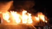 Fire engulfs Surrey building