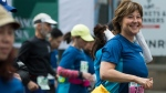 B.C. Liberal Leader Christy Clark participates in the Sun Run in Vancouver, B.C., on Sunday April 23, 2017. THE CANADIAN PRESS/Darryl Dyck