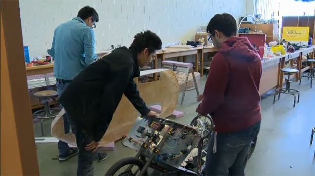 The group from U of M have been working on an ultra-efficient battery electric vehicle.