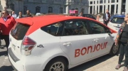 New taxi design for Montreal unveiled on April 23, 2017.