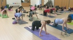 Yoga class supports a worthy cause
