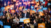 B.C. NDP Leader John Horgan addresses supporters during a campaign rally in Vancouver, B.C., on Sunday April 23, 2017. THE CANADIAN PRESS/Darryl Dyck