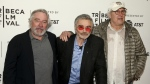 Robert De Niro, from left, Burt Reynolds and Chevy Chase attend the screening of 'Dog Years,' during the 2017 Tribeca Film Festival, at Cinepolis Chelsea in New York on Saturday, April 22, 2017. (Kropa / Invision)