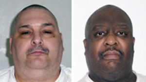 Death-row inmates Jack Jones, left, and Marcel Williams are seen in this combination of undated photos. (Arkansas Department of Correction)