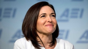 In this Wednesday, June 22, 2016, file photo, Facebook Chief Operating Officer Sheryl Sandberg speaks at the American Enterprise Institute in Washington. (AP Photo/Alex Brandon, File)