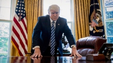 U.S. President Donald Trump in the Oval Office