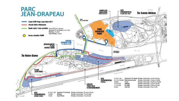 Jean Drapeau Park closures
