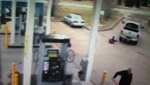 Gas station employee in hospital after hit and run