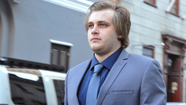 Henri Van Breda arrives at the High Court in Cape Town, South Africa, Monday, April 24, 2017. (AP Photo)