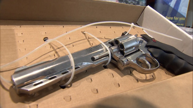 "<b><a href=""http://bc.ctvnews.ca/300k-worth-of-drugs-seized-in-major-fentanyl-bust-1.3382649"" target=""_blank"">New Westminster police said</a></b> they seized a number of vehicles, firearms and replica firearms in the city and in Surrey. They also seized a ""large quantity"" of cash, and an amount of fentanyl-laced heroin and pure fentanyl with a street value of approximately $300,000. (CTV photos from April 24, 2017)"