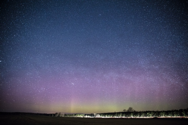 These colourful display of lights against the night sky was captured by cameraman Tom Stefanac on April 22, 2017.