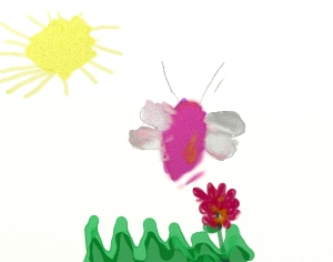 Weather art by Aiyana, age 8, from New Westminster.