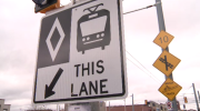 One of Kitchener-Waterloo's new LRT signs.