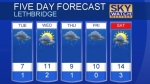 Lethbridge weather for April 24, 2016