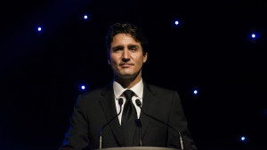 Prime Minister Justin Trudeau gives the keynote address at the 2017 Harry Jerome Awards in Mississauga, Ont., on Saturday, April 22, 2017. THE CANADIAN PRESS/Christopher Katsarov