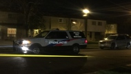 Police are investigating after a shot was fired outside a townhouse complex in L'Amoreaux. (Mike Nguyen/ CP24)