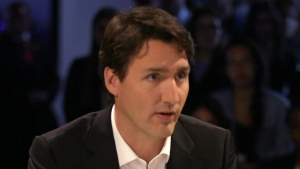 Prime Minister Justin Trudeau speaks during a broadcast interview with Vice Media on Monday, April 25, 2017.