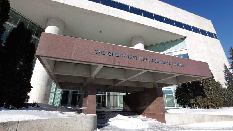 Great-West Lifeco world headquarters is pictured in Winnipeg, Tuesday, February 19, 2013. (THE CANADIAN PRESS/John Woods)