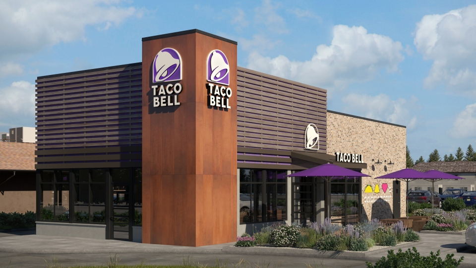 Taco Bell's new restaurant design is seen in this handout photo. (CNW Group/Taco Bell Canada)