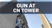 Gun at CN Tower