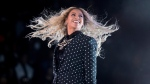 Beyonce performs at a Get Out the Vote concert for Democratic presidential candidate Hillary Clinton at the Wolstein Center in Cleveland on Nov. 4, 2016. (Andrew Harnik/AP)