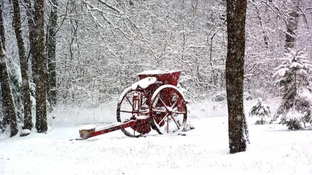 Winter wonderland at La Broquerie in April. Photo by Muriel MacKenzie.
