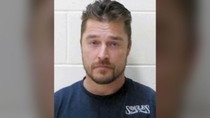 "This Tuesday, April 25, 2017, photo provided by the Buchanan County Sheriff's Office in Independence, Iowa, shows Chris Soules, former star of ABC's ""The Bachelor,"" after being booked early Tuesday after his arrest on a charge of leaving the scene of a fatal accident near Arlington, Iowa. (Buchanan County Sheriff's Office via AP)"