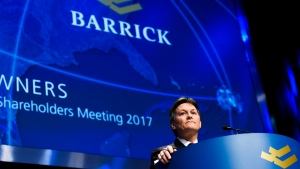 Barrick Gold president Kelvin Dushnisky speaks during the company's annual general meeting in Toronto on Tuesday, April 25, 2017. (Nathan Denette/The Canadian Press)