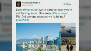 VPD and Manitoba RCMP trade jabs on Twitter
