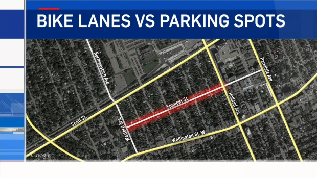 Councillor Jeff Leiper has changed his mind about proposed bike lanes on Spencer St. that would've gone from Western Ave. to Holland Ave. (CTV Ottawa)