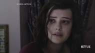 A shot from Netflix's '13 Reasons Why.' Hannah Baker, played by Katherine Langford, is pictured here. (Source: Netflix)