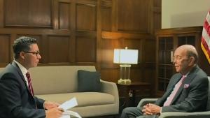 U.S. Secretary of Commerce Wilbur Ross speaks with CTV News' Richard Madan on Tuesday, April 25, 2017.