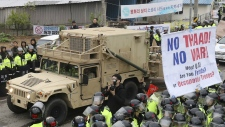 U.S. moves THAAD system in to South Korea
