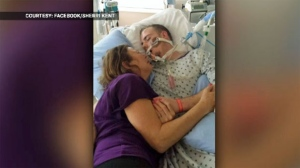 Sherri Kent rushed to Kelowna, B.C. to be with her son, MIchael, after he overdosed. (Sherri Kent/Facebook)