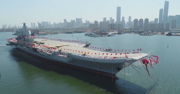 China's First Domestically Built Aircraft Carrier Launched, To Enter Service By 2020