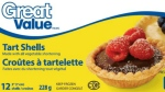Great Value brand pie shells recalled by the Canadian Food Inspection Agency are seen in this provided photo. (CFIA)