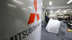 Mitsubishi Motors Corp. Chairman Osamu Masuko speaks during a press conference at the headquarters of the Mitsubishi Motors Corp. in Tokyo, Tuesday, Aug. 2, 2016. (AP / Shizuo Kambayashi)