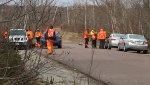 Police and members of Cape Breton Ground Search and Rescue are searching the Cossitt Heights area where Debbie Hutchinson's car was found.