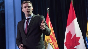 New Brunswick Premier Brian Gallant in Fredericton, N.B., on Jan. 26, 2017. (Stephen MacGillivray / THE CANADIAN PRESS)