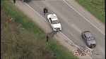Several RCMP officers were injured after Mountie vehicles were apparently rammed during a traffic stop on April 25, 2017. (CTV)