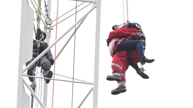 Crane rescue