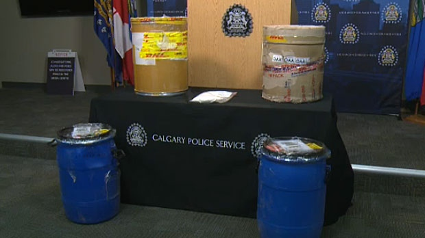 A record breaking amount of phenacetin was seized during a bust at a southwest Calgary home last week.