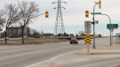 Aisaican-Chase testified he was travelling exactly 80 km/h in an 80 km/h zone when the lights at the intersection of Bishop Grandin Boulevard and River Road turned amber. (Josh Crabb/CTV Winnipeg)