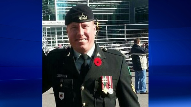 Robert Dynerowicz is seen in Kitchener on Remembrance Day, Nov. 11, 2015. (Dan Twomey)
